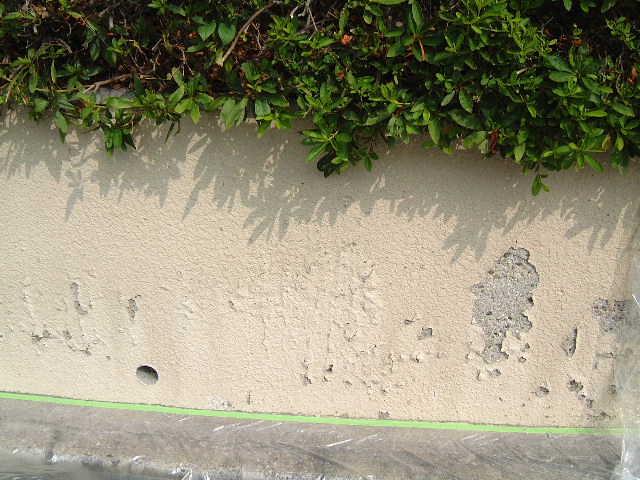 コンクリート塀の塗装例 天野塗装